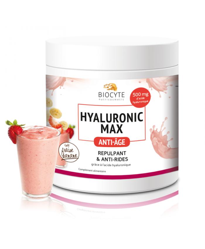 Biocyte 法国本土 口服玻尿酸粉 奶昔口感 草莓香蕉口味 260g