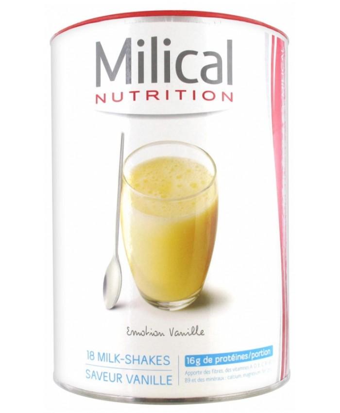 MILICAL 法国优质高蛋白代餐奶昔 香草口味 540g